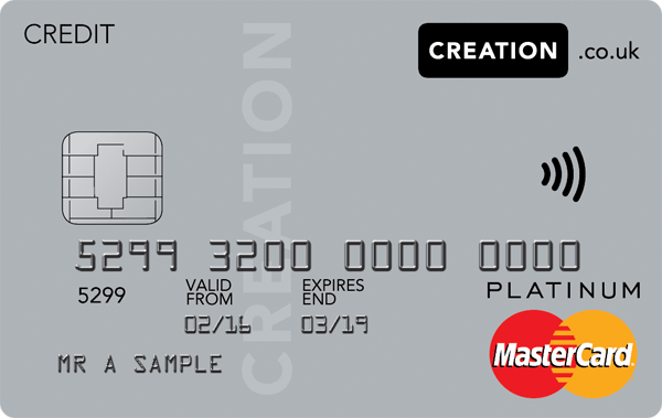 creation everyday credit card