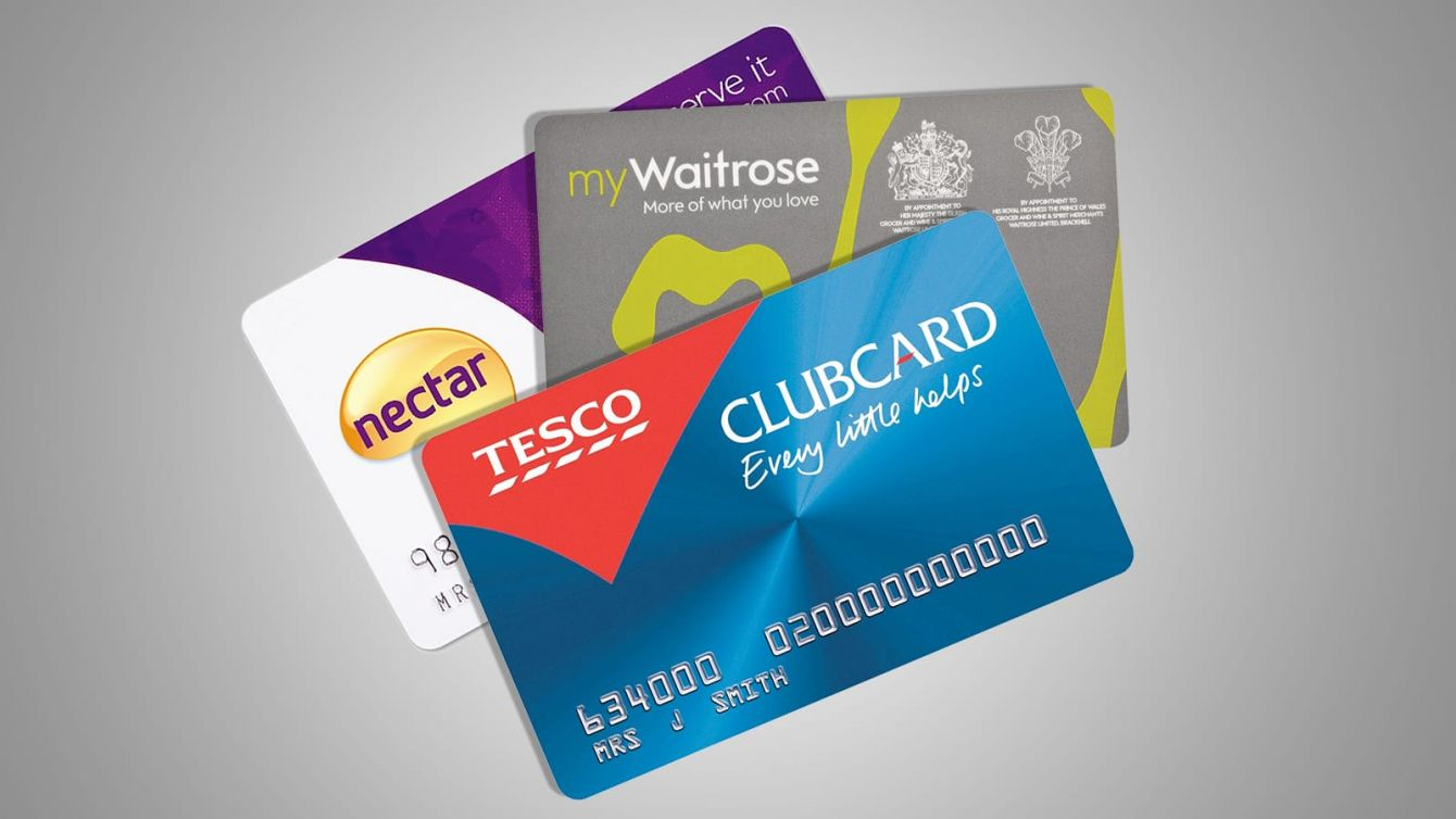 a collection of store reward cards